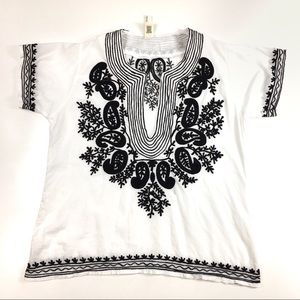 Raga by Anthropologie Embroidered Boho Blouse
